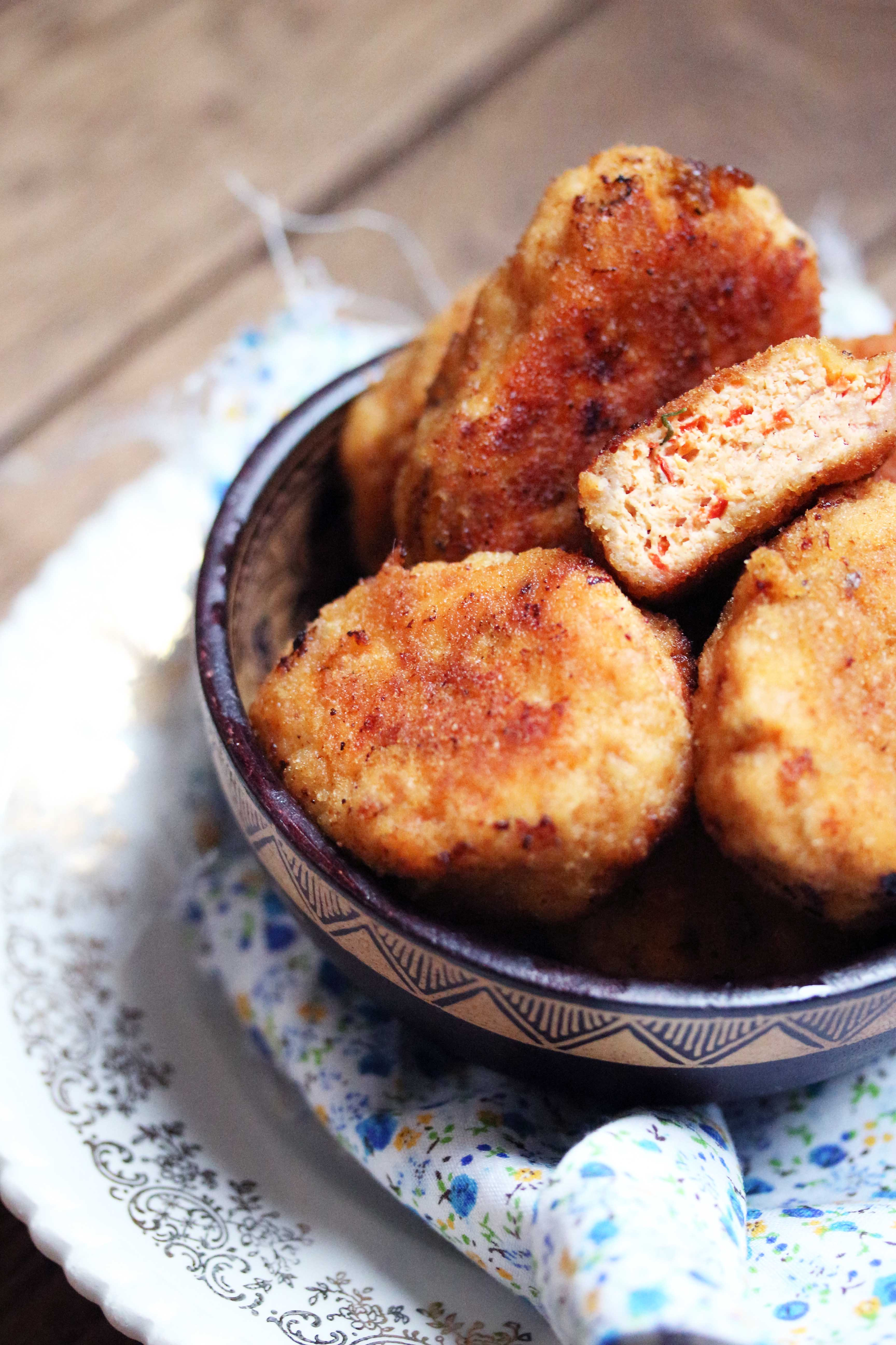 recette de nuggets maison au poulet et poivrons poire cactus