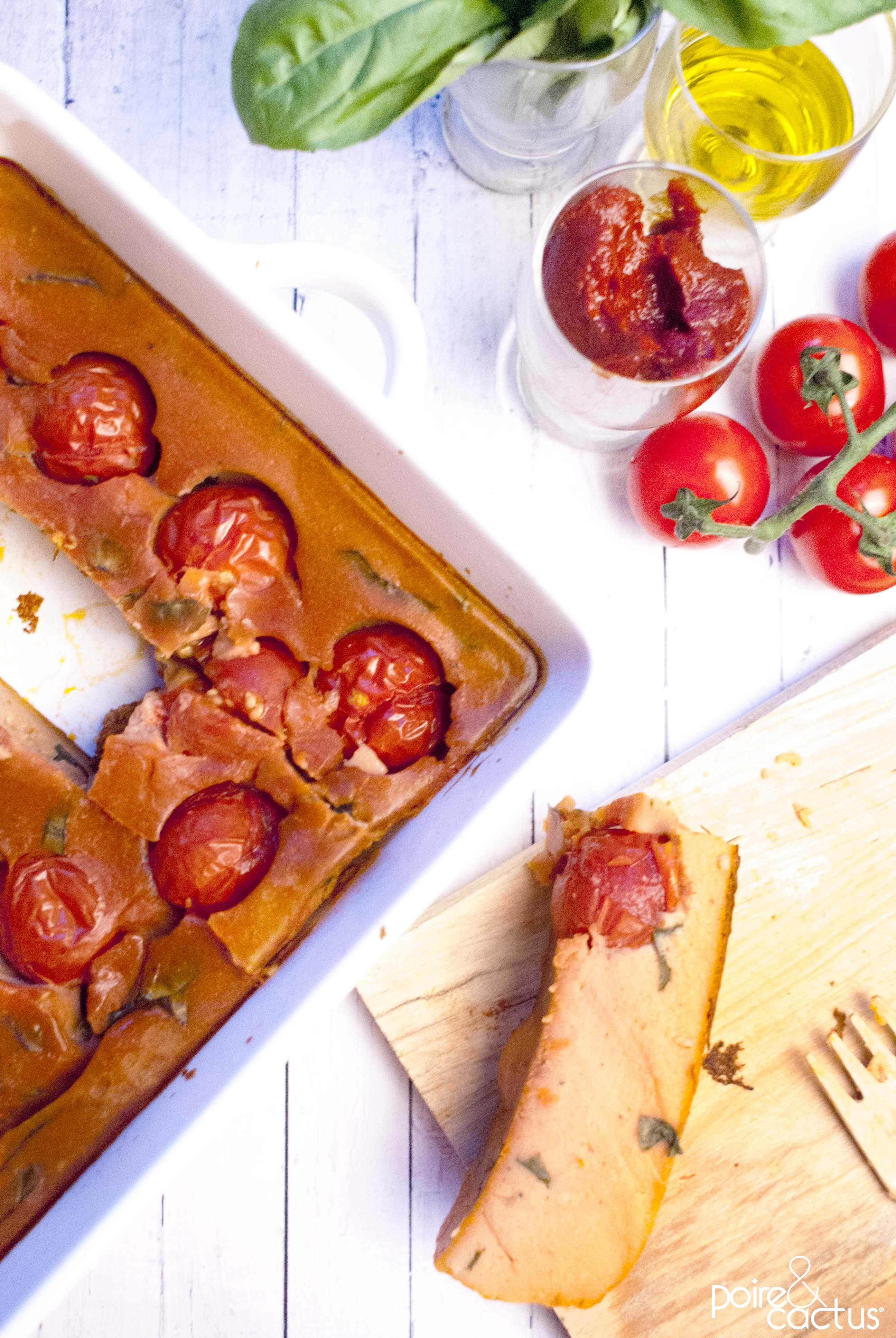 recette entrée clafoutis tomates cerise